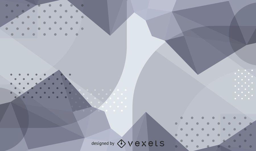 Ondas abstractas y fondo punteado textura plata
