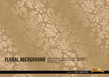 Elegant ornate gold floral background