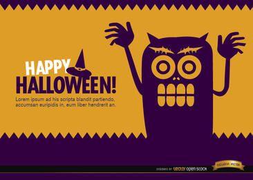 Papel de parede de monstro assustador de Halloween
