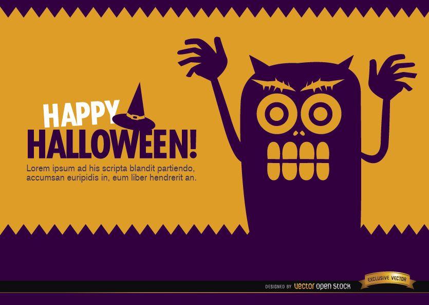 Halloween creepy monster wallpaper