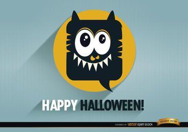 Fondo de promoción de Halloween de monstruo tierno