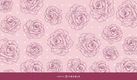 Fondo de San Valentín rojo decorativo vintage