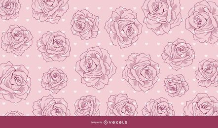 Vintage Decorative Red Valentine Background
