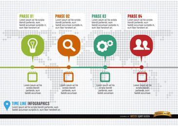 Infographik-Vorlage für Projekt-Zeitplan