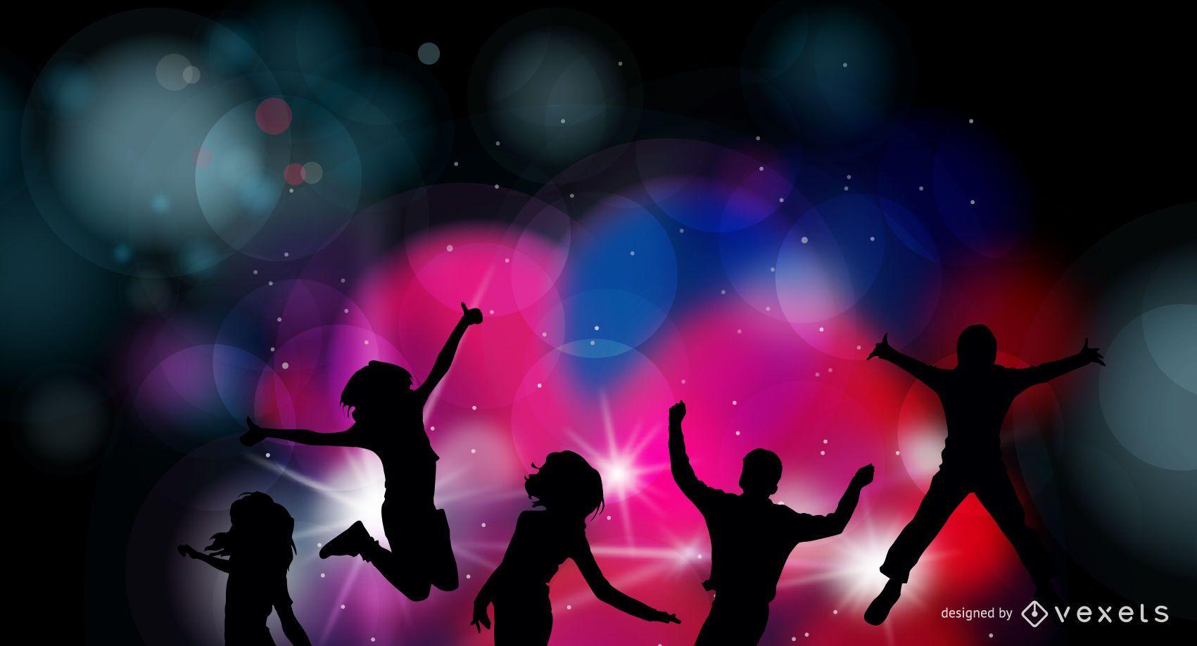 Colorful Party Night Celebration Background