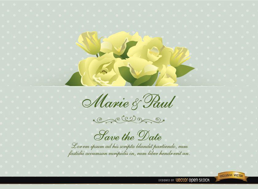 Cartão De Convite De Casamento De Flor De Gardênia