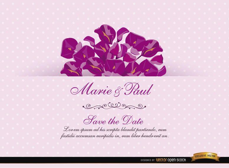 Pink Invitation Card with Acacia