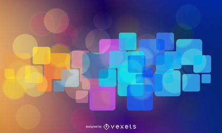 Fundo abstrato colorido brilhante quadrados