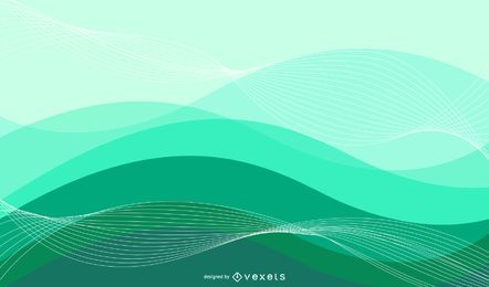 Colorful Abstract Waves & Spirals Background