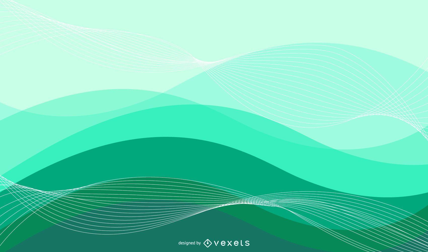 Fondo abstracto colorido de ondas y espirales