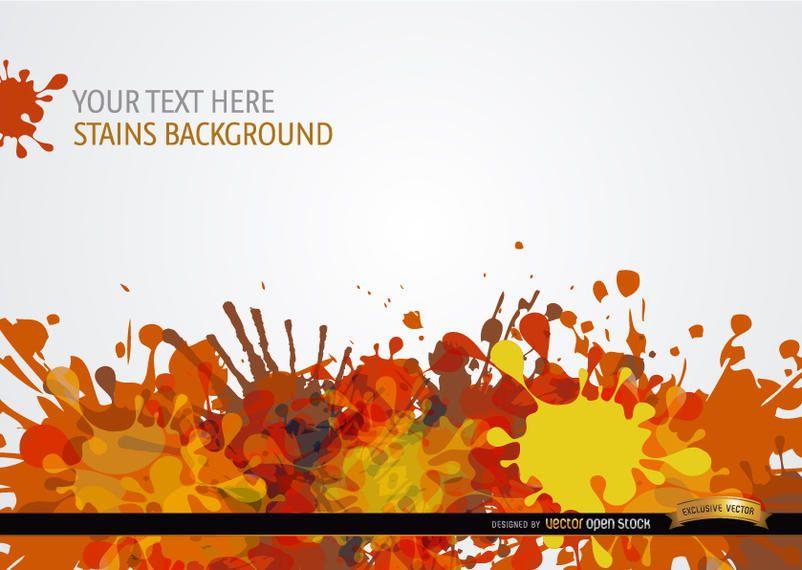 Fondo de gotas de pintura roja naranja amarillo