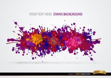 Bunte Farbe lässt Hintergrund fallen