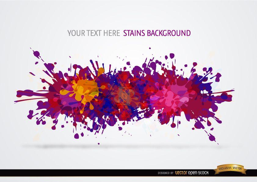 Colorful paint drops background