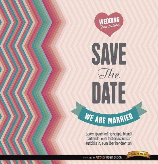 Invitación fresca de la boda del vintage