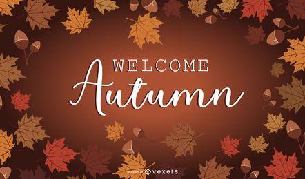 Weinlese-Zusammenfassungs-Hand gezeichneter Autumn Background