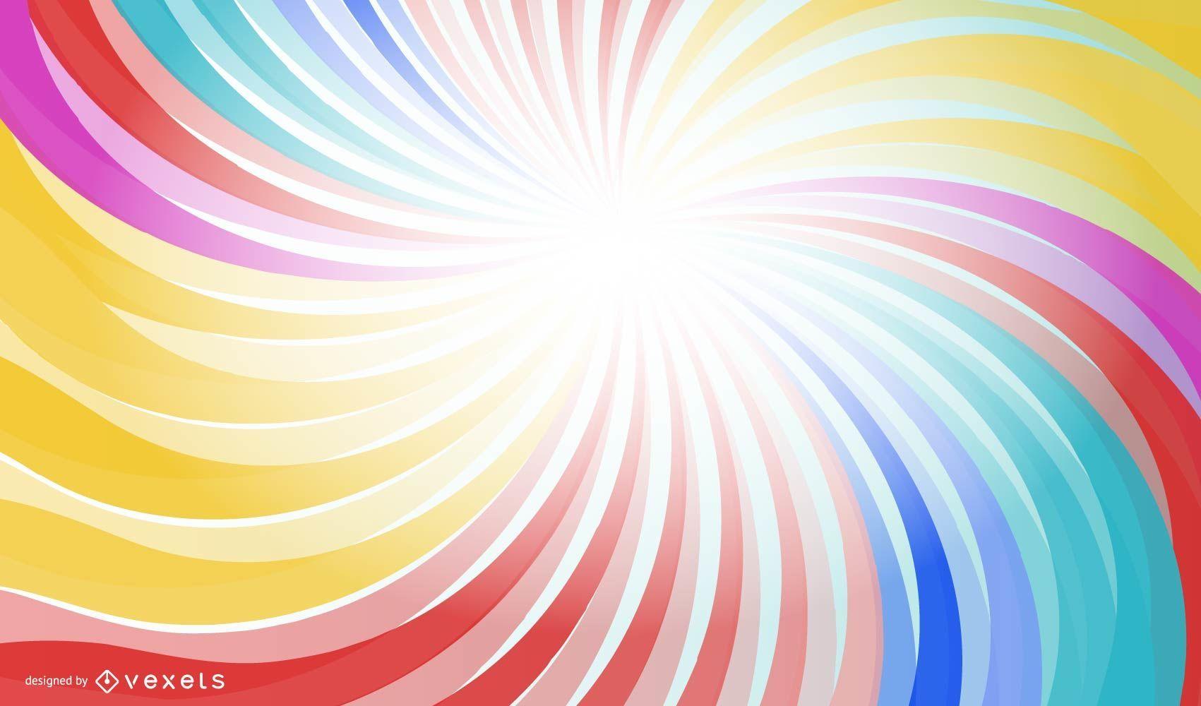 Fondo de borde de corte de remolinos de vórtice de arco iris