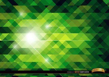 Fundo brilhante poligonal verde