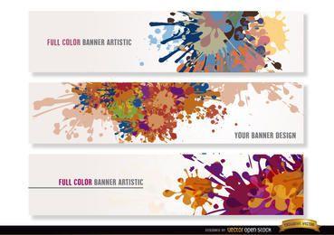 Bunte Farbe lässt Überschriften fallen