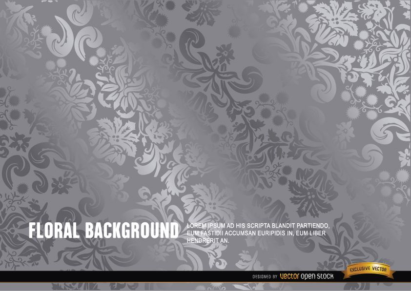Silver floral background