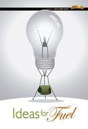 Bombilla de ideas de creatividad.