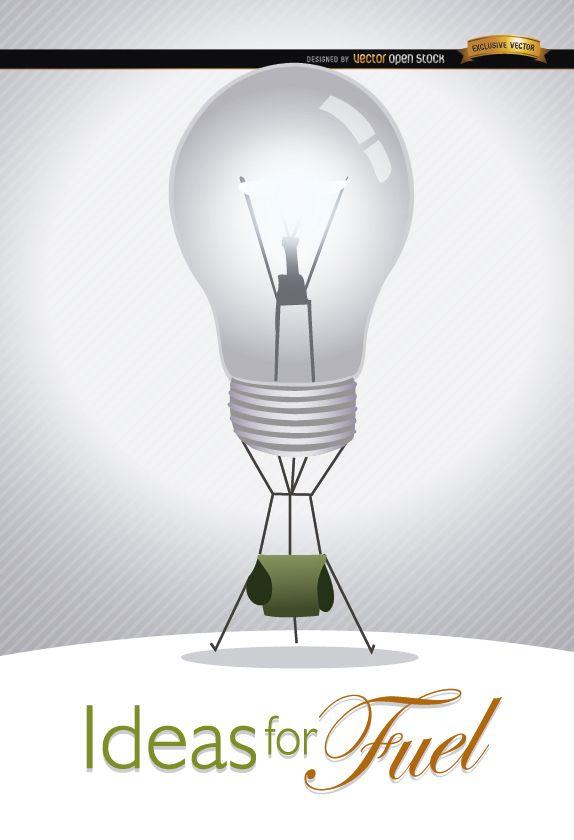 Light bulb ideas creativity