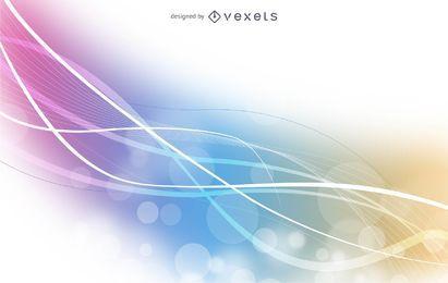 Fondo de ondas de remolino abstracto colorido fluorescente