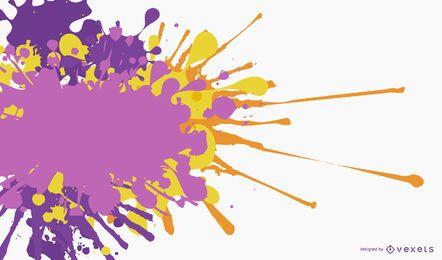 Bunte gemalte gespritzte Fahnen-Schablone