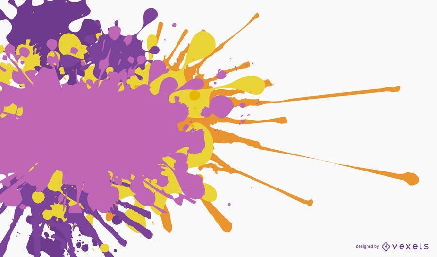 Plantilla de banner pintado colorido salpicado