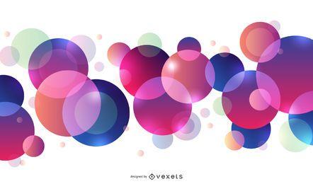 Fundo Colorido Flutuante De Círculos Abstratos
