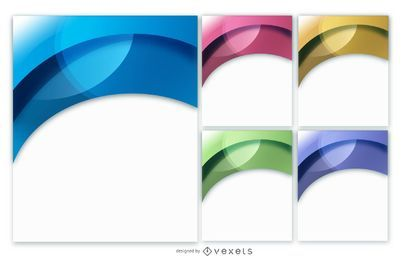 Abstract Cutting Edge Curvy Background