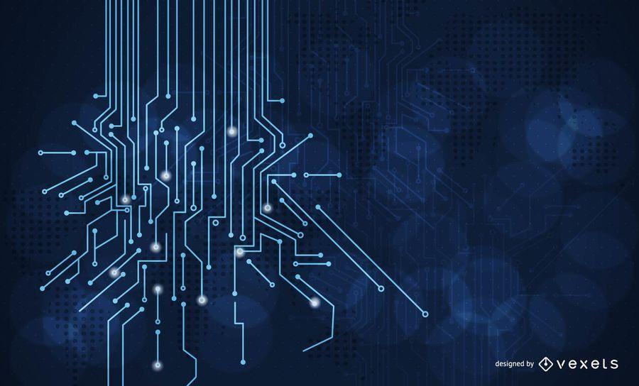 Linhas de energia azul luz Flare Background