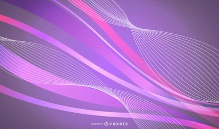 Fundo colorido abstrato de curvas fluorescentes
