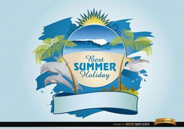 Logotipo da praia do verão