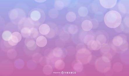Blue Pink Background with Bokeh Bubbles