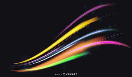 Espectro de néon colorido fundo claro