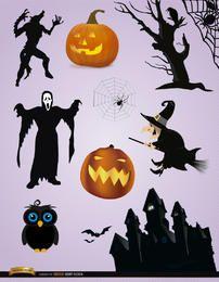 10 elementos de miedo de Halloween