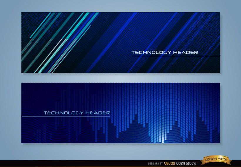 Blue technology headers