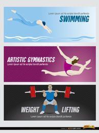 Cabeceras olímpicas de deportes