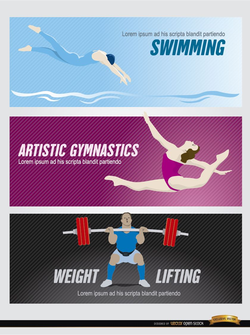 Olympic sports headers