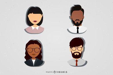Conjunto de ícones de personagens profissionais