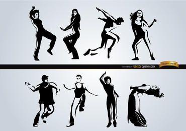 Leute tanzen verschiedene Stile