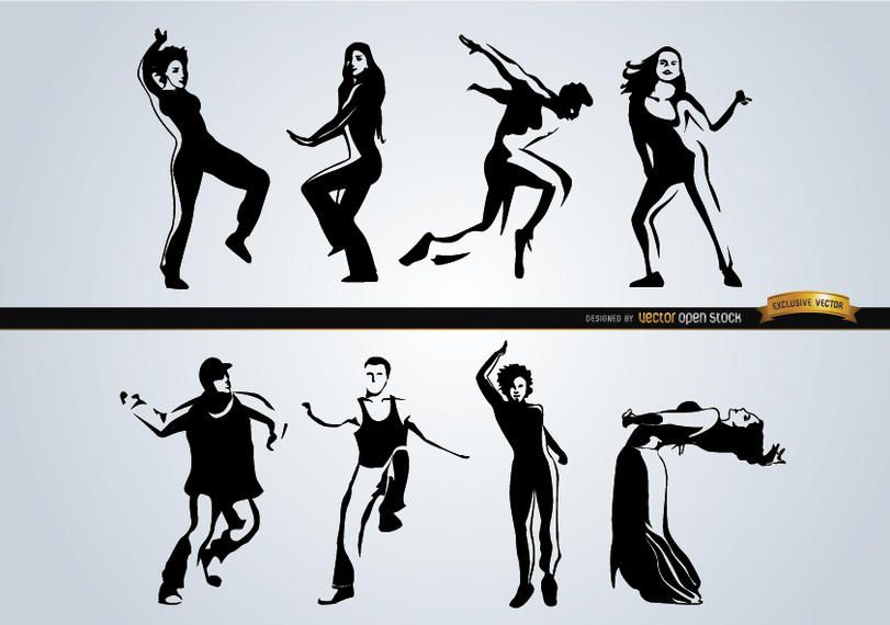 People dancing different styles