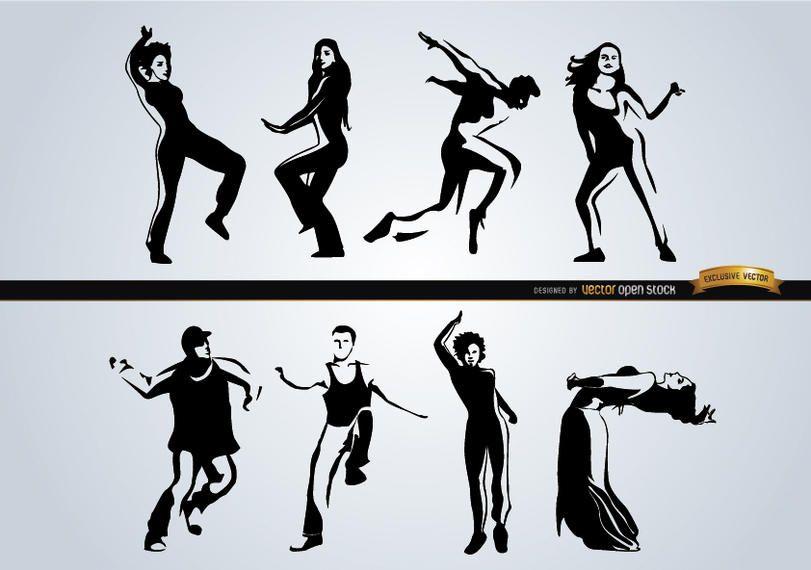 Personas bailando diferentes estilos.