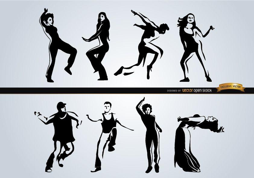 Gente bailando diferentes estilos.