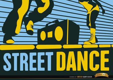 Papel de parede de dança hip-hop de rua