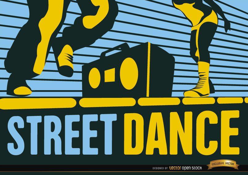 Street Hip Hop Dance Wallpaper Vector Download