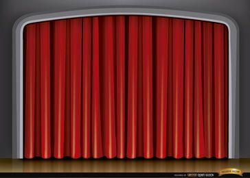Fundo de cortina vermelha de palco