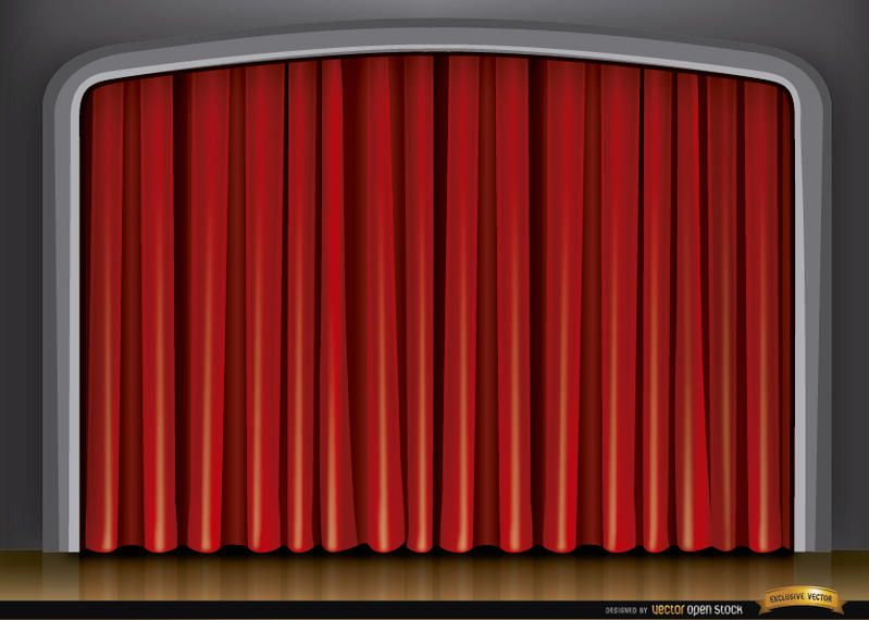 Stage red curtain background