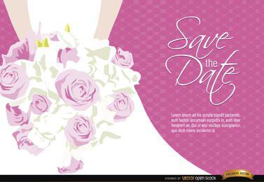 De casamento da noiva floresce o convite