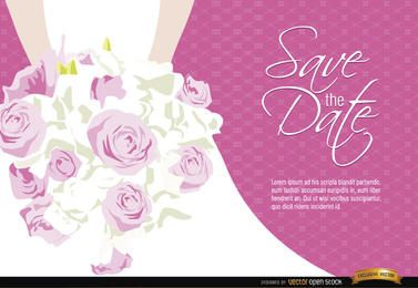 Wedding invitation bride flowers